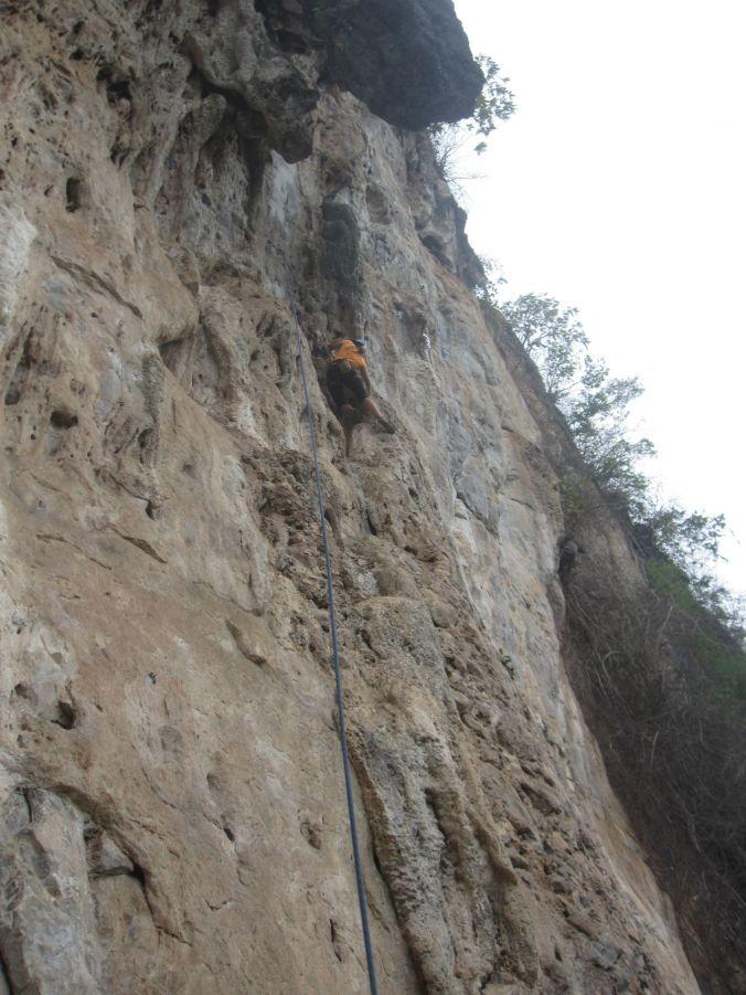 Ulrika klättrar! Ulrika climbing!