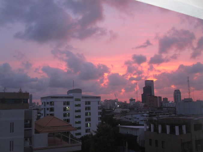 Fantastiskt fin himmel över Bangkok! Fantastic nice sky over Bangkok!