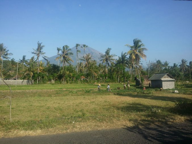 Vulkanen Agung! The volcano Agung!