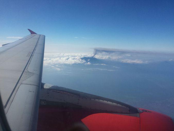 Vi har fått se en aktiv vulkan! We have seen a volcano erupting!