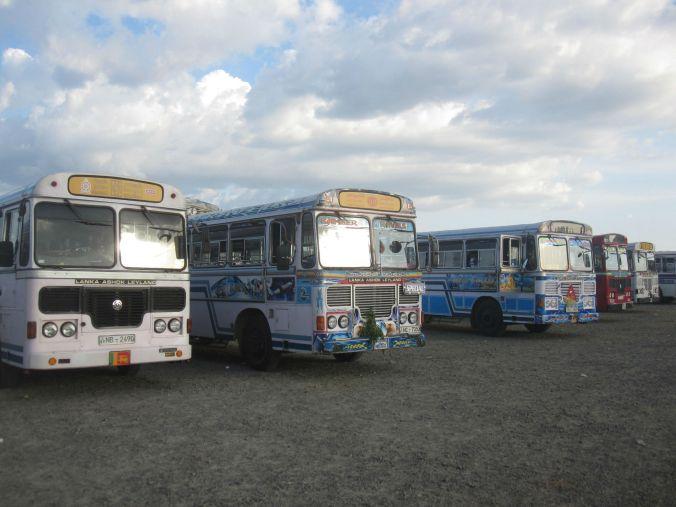 Bussarna på Sri Lankas vägar! Man får verlkigen hålla i sig när man åker med dem för det går fort och inbromsningen är våldsam! The buses on roads of Sri Lanka! You really need to hold on when going with them, because it goes fast and the bus often brakes violently!