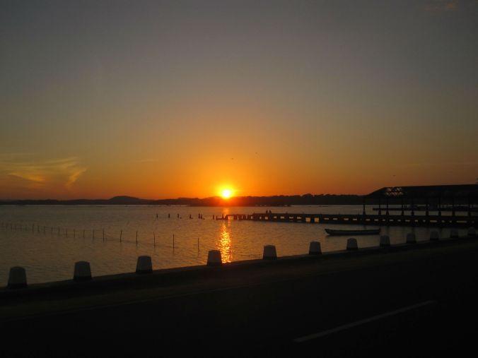 Vacker solnedgång i Trincomalee! Beautiful sunset in Trincomalee!