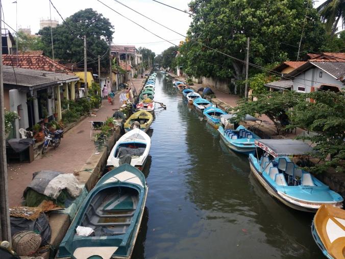Den holländska kanalen i Negombo! The dutch canal in Negombo!