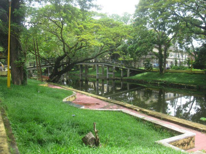 En av kanalerna i Alleppey! One of the canals in Alleppey!