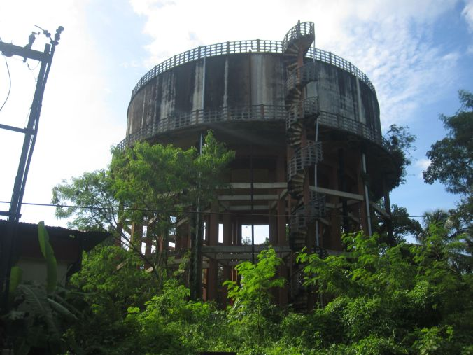 Vattentornet i Alleppey! The water tower in Alleppey!