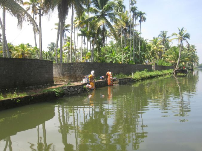 Vardag i Kerala backwaters! Everyday life in Kerala backwaters!