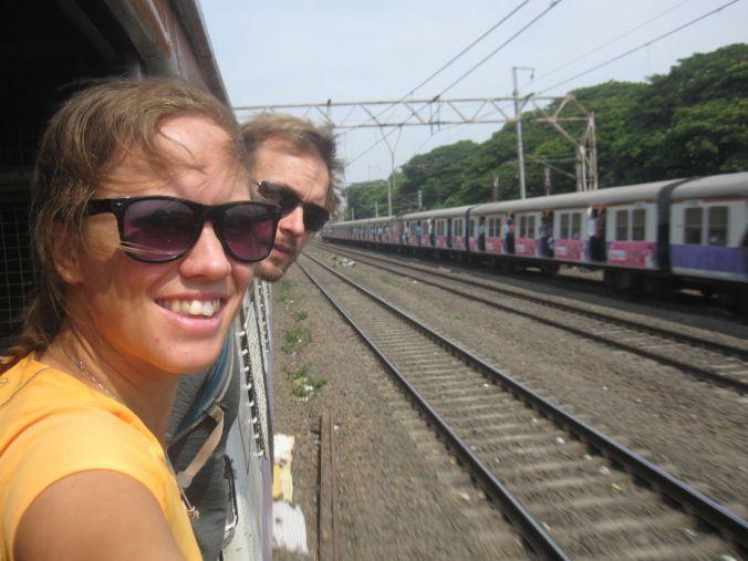 Pendeltåg-selfie! Commuter-selfie!