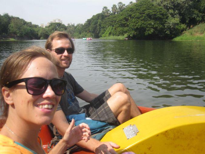 Trampbåt-selfie! paddle boat-selfie!