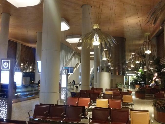 Den internationella flygplatsen i Mumbai hade jättefin inredning också! The international airport in Mumbai had a really nice decor too!