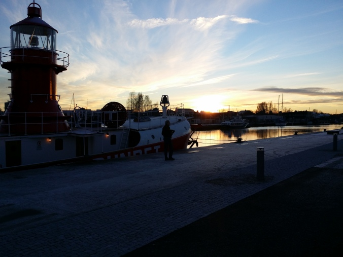 Solnedgång över Gävle! Sunset over Gävle!