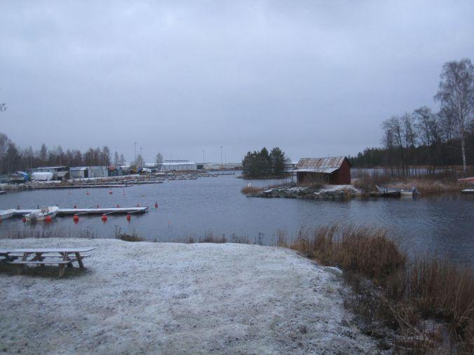 Norrsundets småbåtshamn. Nästan alla båtar är upplockade för vintern! Norrsundet's marina. Almost all boats are picked up on land for the winter!