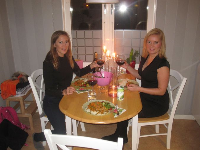 Middag och dans hemma hos Karin! Dinner and dancing at the home of Karin!