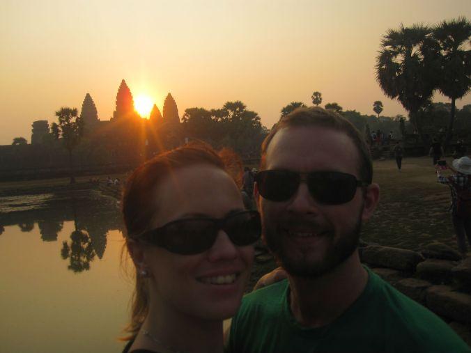 Soluppgång vid Angkor Wat! Sunrise at Angkor Wat!