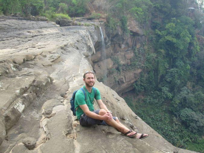 Ett vattenfall i Laos! A waterfall in Laos!