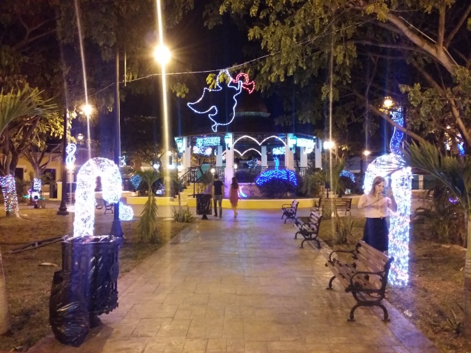 Det är jättefina julbelysningar även här i Campeche! It's really nice christmas lights here in Campeche!