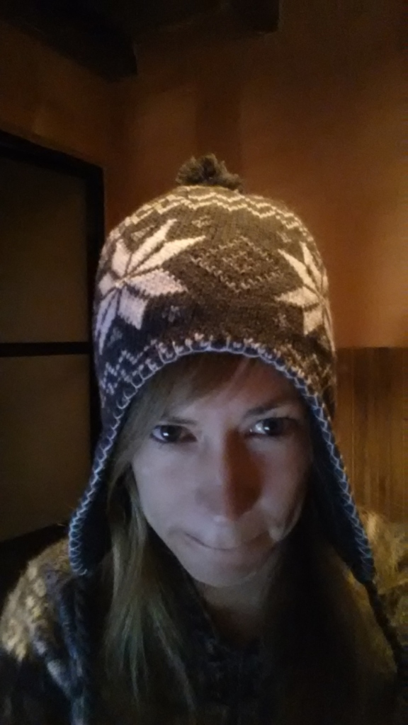 Ulrika fick köpa en egen mössa! Ulrika had to buy her own ski cap!